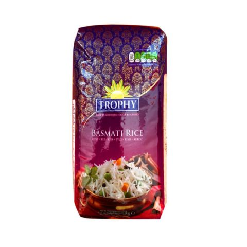 Basmati Rice Trophy Medium Bag 1kg